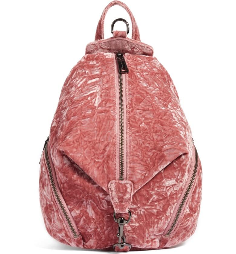 Medium Julian Velvet Backpack- Rebecca Minkoff - Sale: $163.90After Sale: $245.00