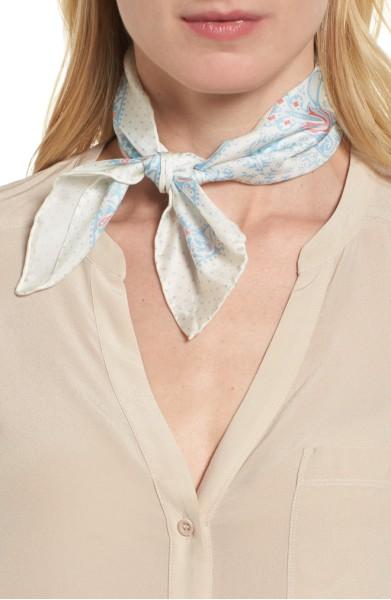 Handkerchief Paisley Silk Scarf- Rebecca Minkoff - Sale: $25.90After Sale: $40.00