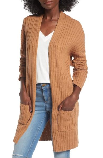 Rib Knit Cardigan- BP. - Sale: $31.90After Sale: $49.00