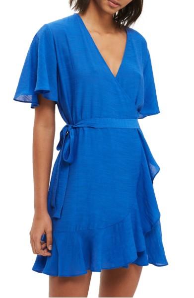 Ruffle Wrap Dress- Topshop - $90.00