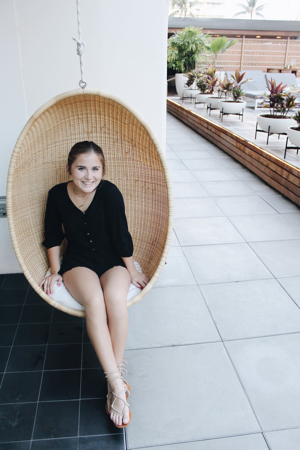 Cute hanging chairs at the Laylow!