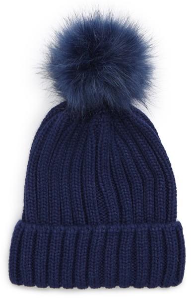 B.P. Faux Fur Pompom Beanie - $15.00