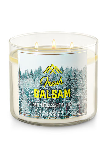 Bath and Body Works Fresh Balsam Candle - $12.50