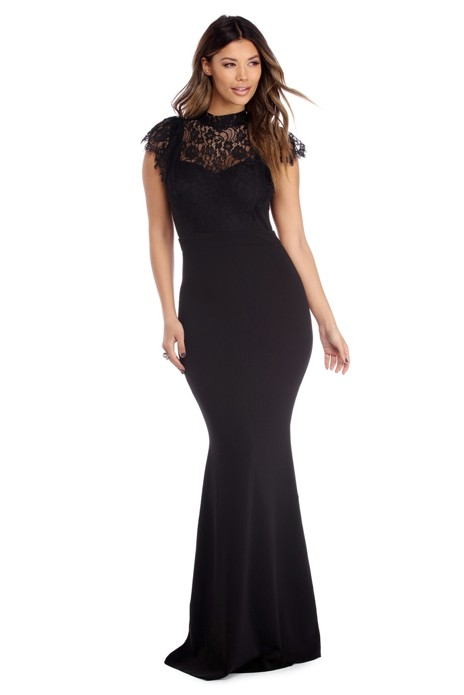 Sariah Black Lace Illusion Dress - $59.90