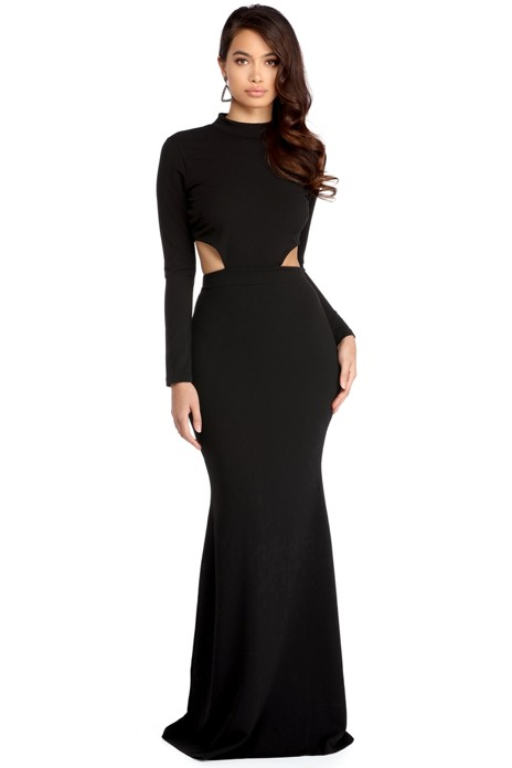 Tessa Black Crepe Cut Out Dress - $64.90