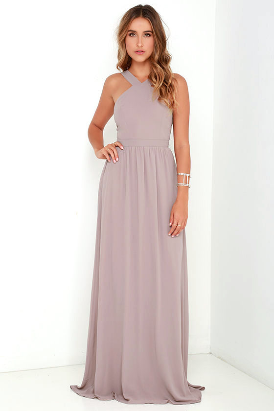 Air of Romance Taupe Maxi Dress - $68