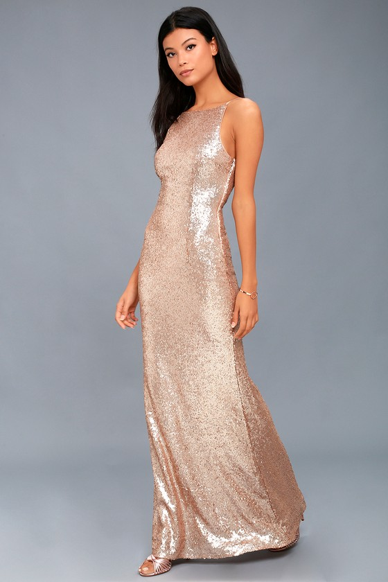 Chic Celebration Sequin Maxi Dress - $94