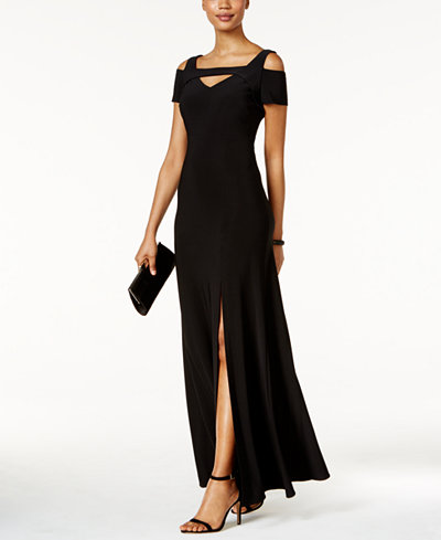 Cold- Shoulder Keyhole Gown - $99
