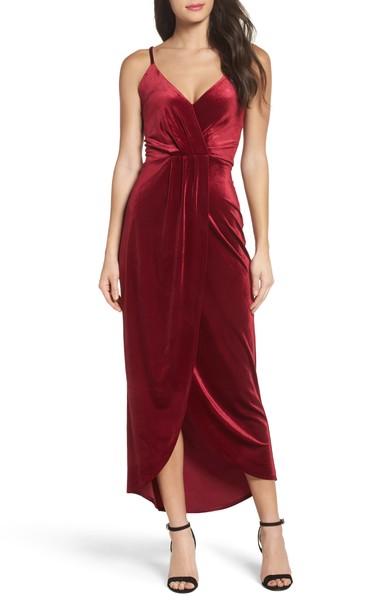 Velvet Slip Dress - $99