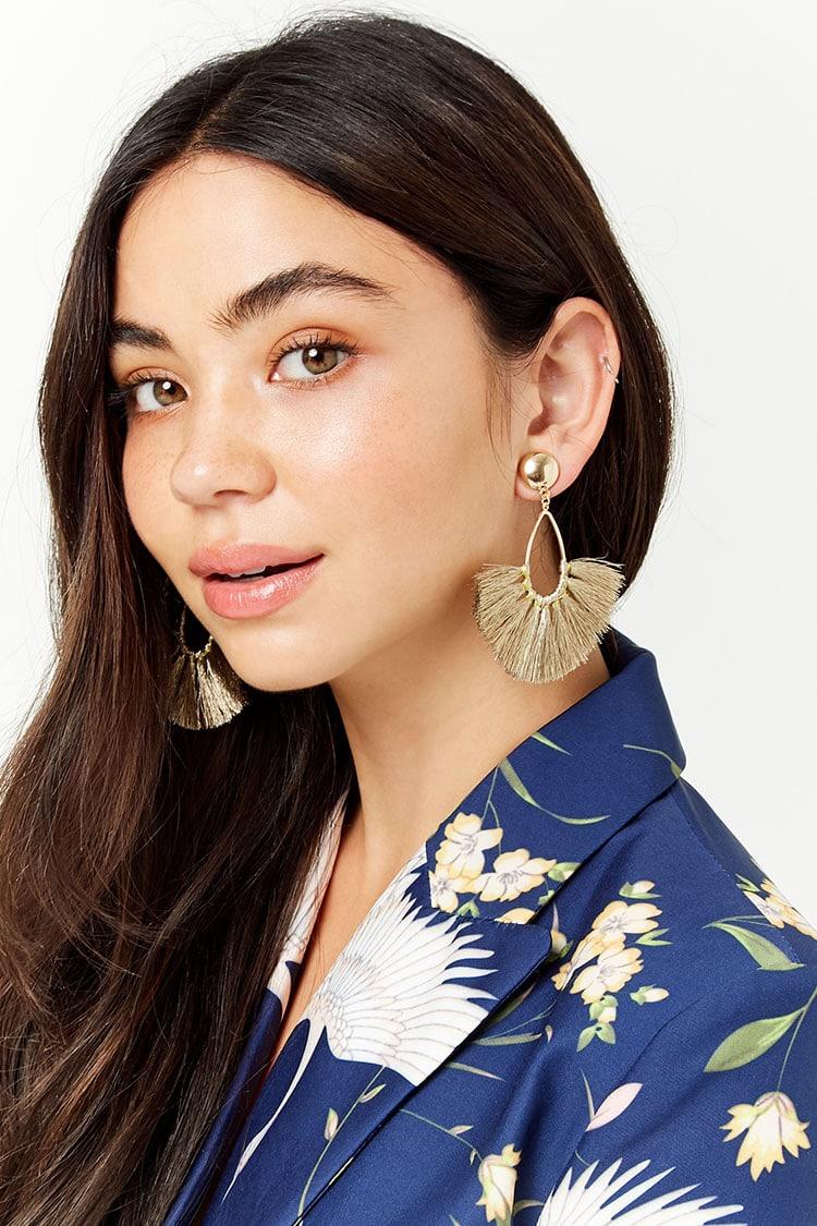 Fan Tassel Drop Earrings - $5.90
