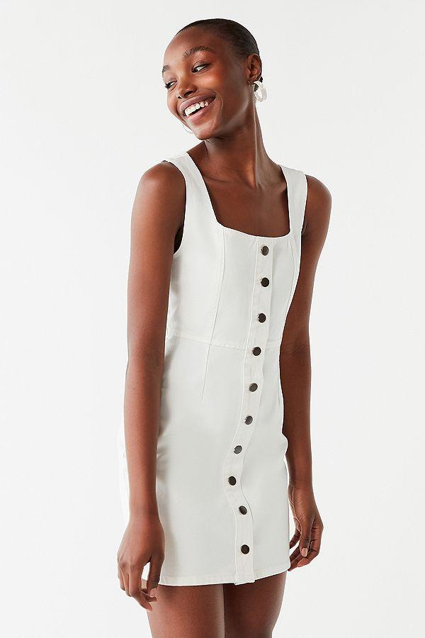 Button- Down Denim Mini Dress - $69