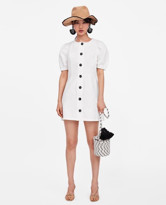 Puff Sleeve Dress - $49.90