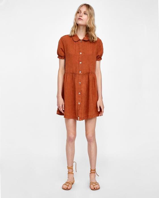 Short Linen Dress - $69.90