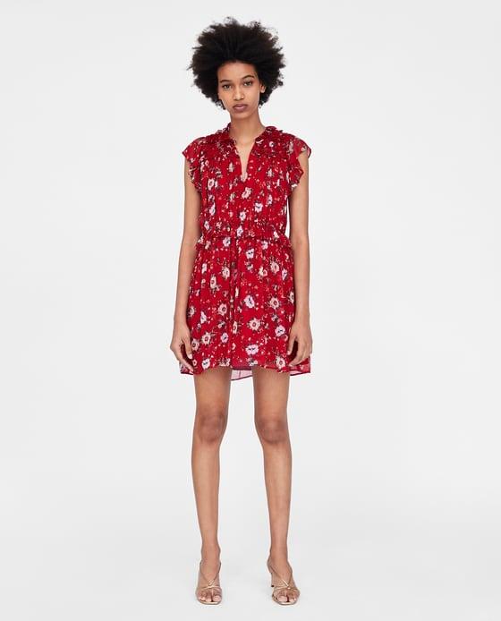 Ruffled Floral Print Dress - $49.90