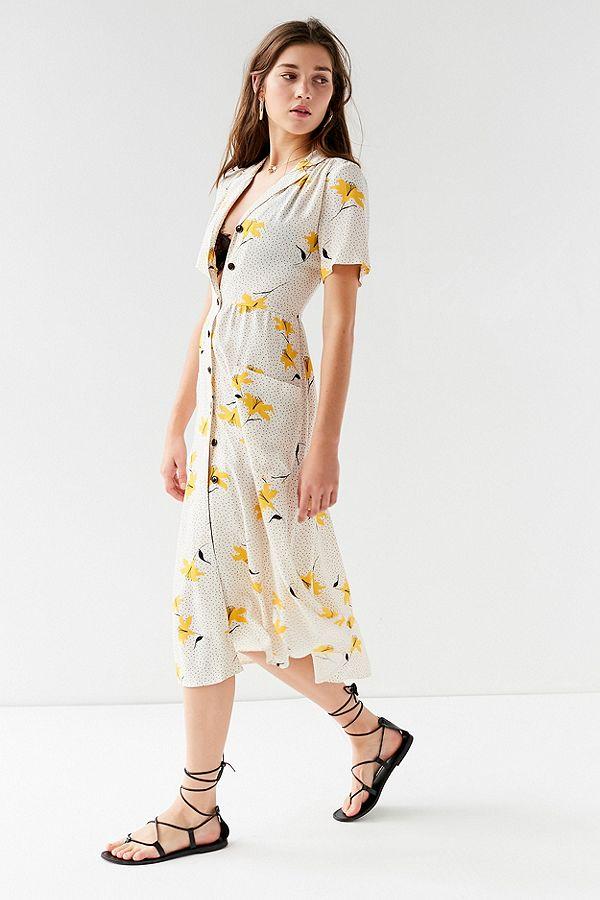 Button- Down Midi Shirt Dress - $69