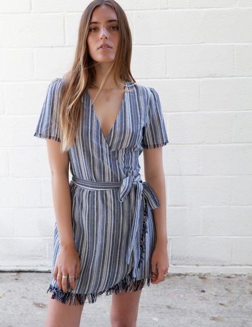 Getaway Blue Wrap Dress - $49.80