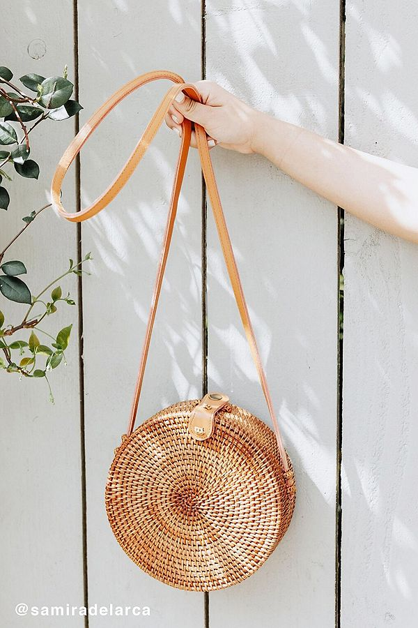 Circle Straw Crossbody Bag - $59.00