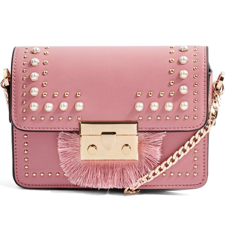 Topshop Rosie Imitation Pearl Fringe Crossbody Bag - $52.00
