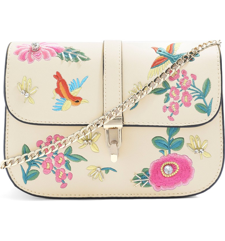 Topshop Hummingbird Emroidered Crossbody Bag - $52.00
