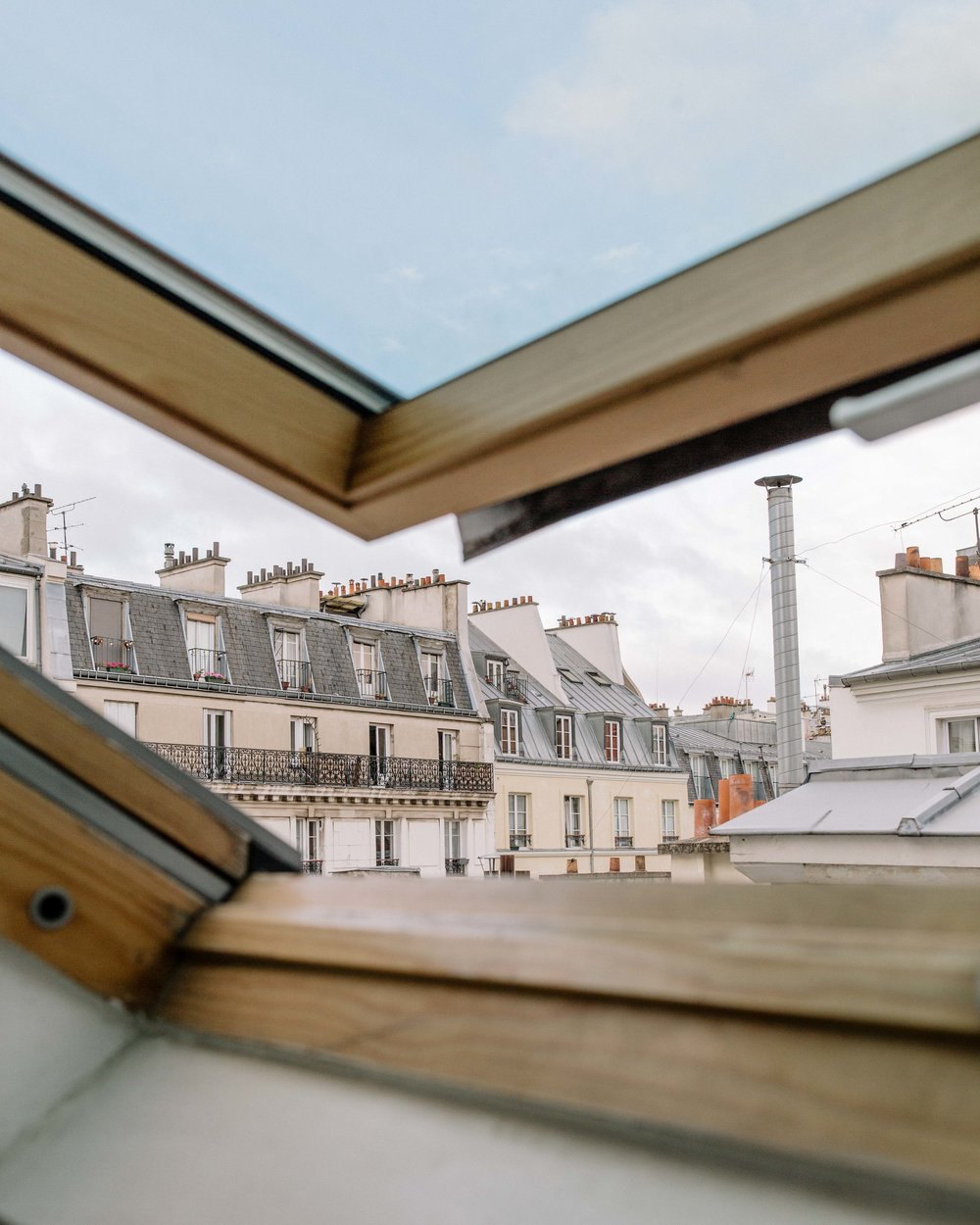 The quintessential Paris view from a top floor apartment.