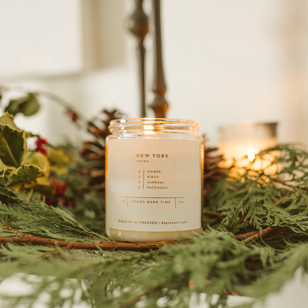 This one's a no brainer. I burn a candle or incense nearly every day so I go through scents quickly—but today I'm burning New York by   Roam   ,  and in addition to the perfect notes of Amber & Birch, it also boasts a 45 hour burn time which is amazing for a candle this size. If you have a favorite candle, feel free to leave a link in the comments!