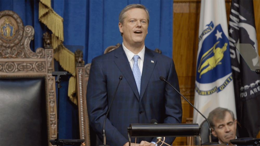 Governor Charlie Baker delivers the State of the Commonwealth address.
