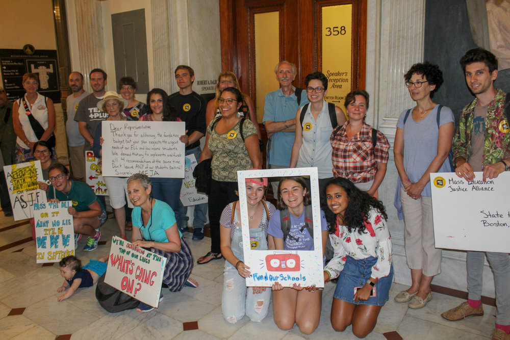 Students, parents, educators & activists at the State House in July!