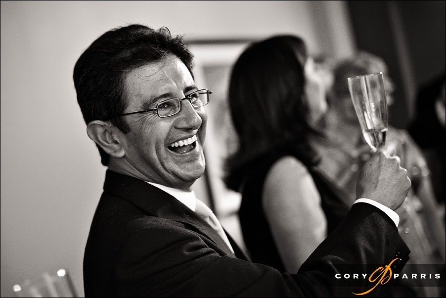 father of the bride toasting the couple by seattle wedding photographer cory parris