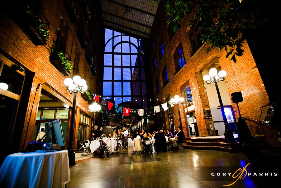 Venue spotlightcourt in the square cory parris photography view from above of the court in the square a unique seattle wedding venue junglespirit Images