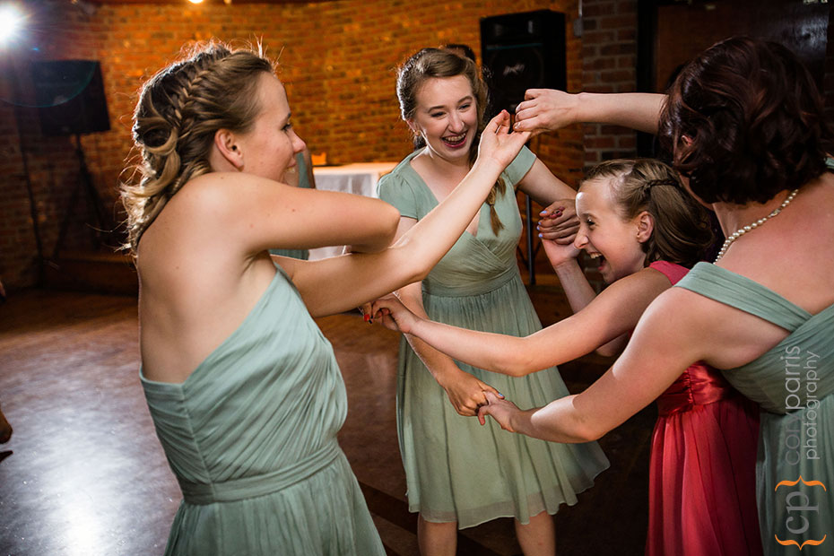 bridesmaids dancing