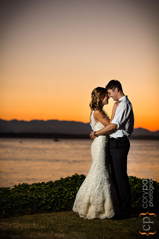 Sunset portrait at Shilshole Bay Beach Club