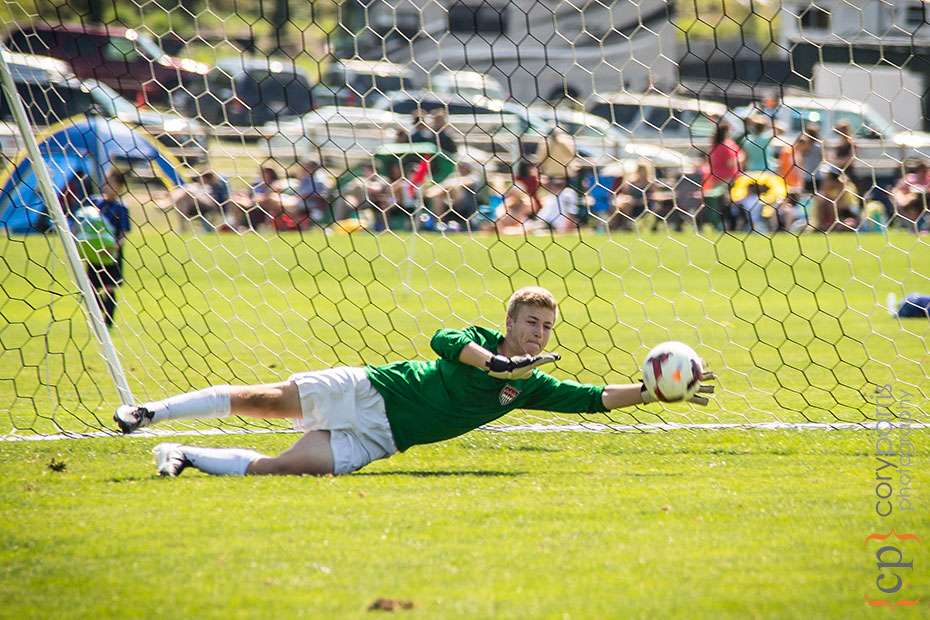 Kyler makes a save wearing his favorite West Coast Goalkeeping gloves!