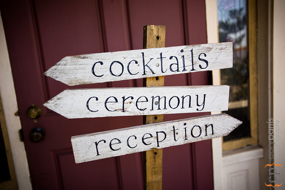 wedding directional sign homemade