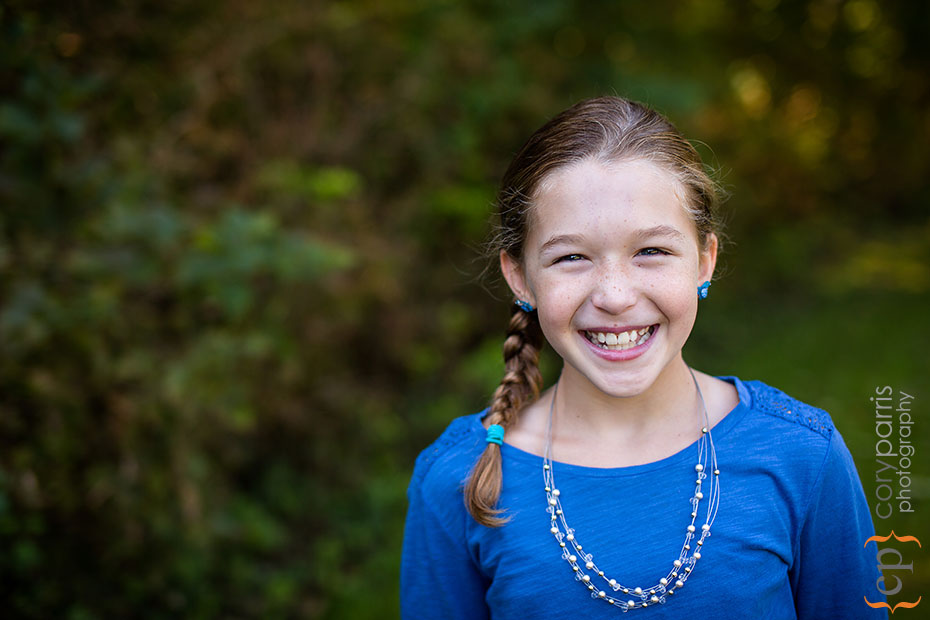 little girl portrait in woodinville