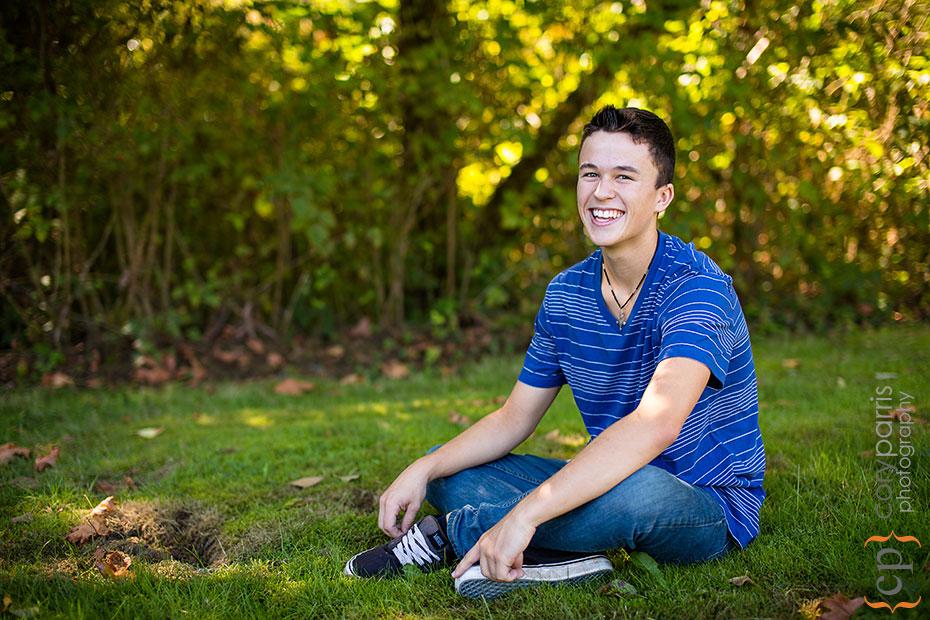teenage boy portrait in woodinville