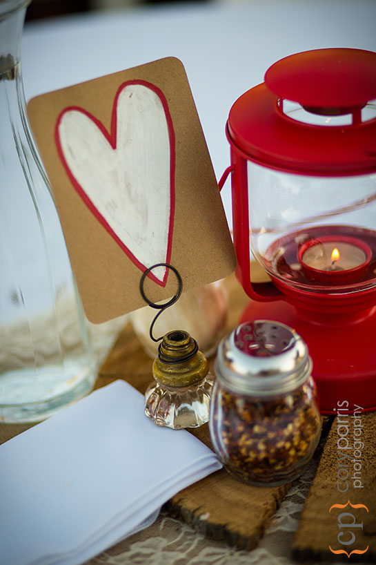 red lantern wedding centerpiece