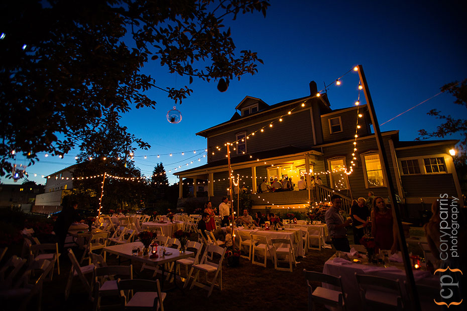 Beacon Hill wedding venue at night