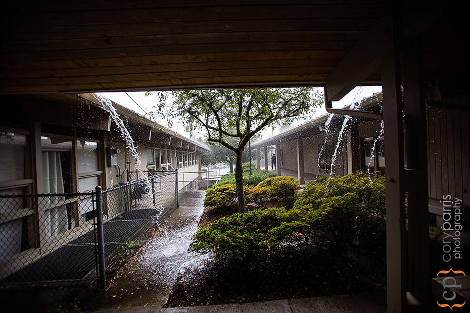 wedding rain storm
