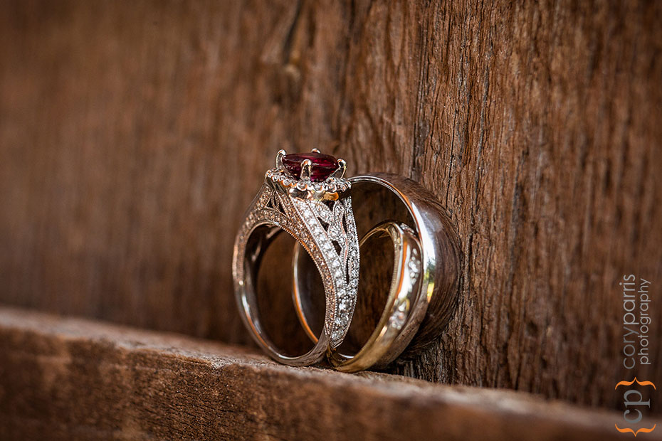 wedding rings featuring rubies