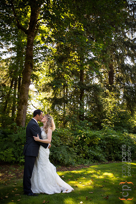 wedding portrait in the woods near Seattle