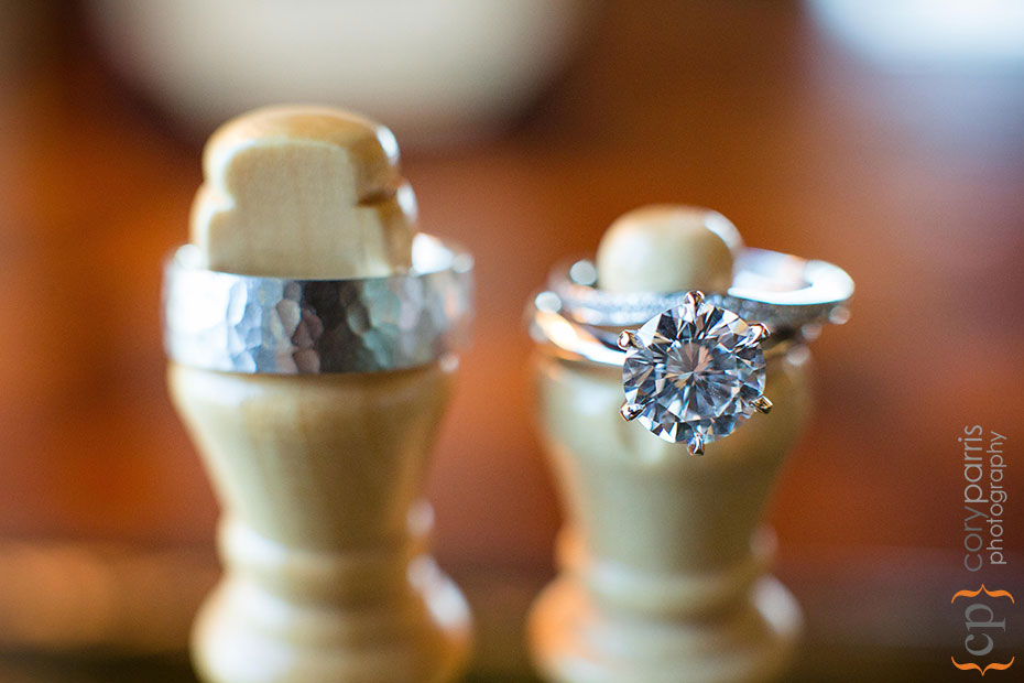 wedding rings at newcastle golf club wedding