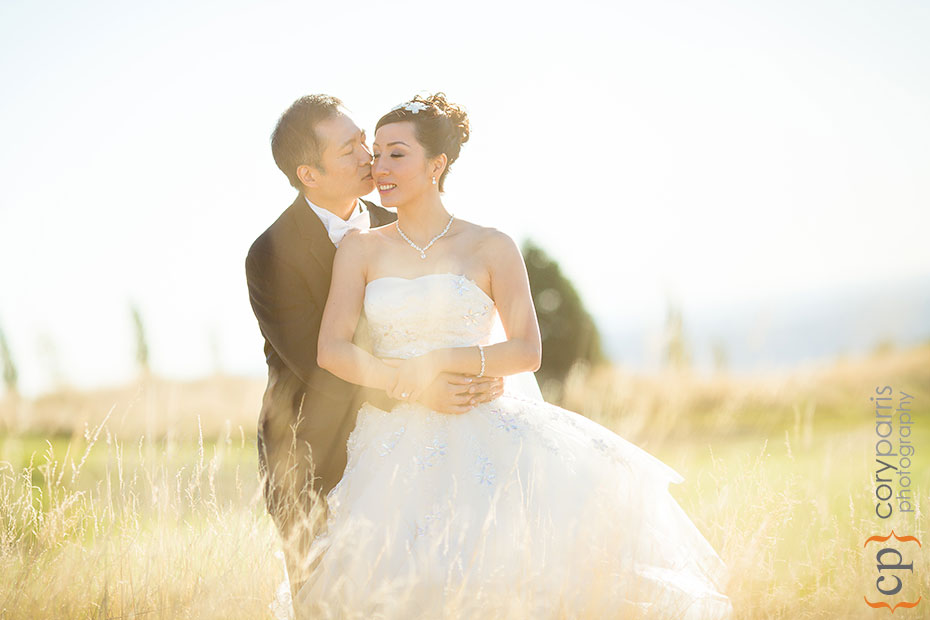 wedding portrait in the long grass