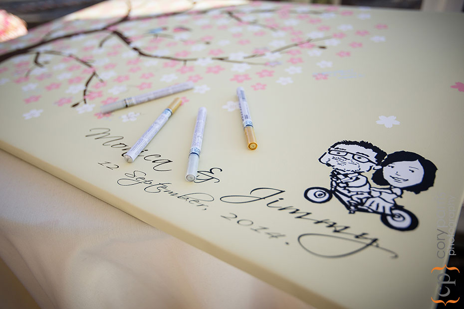 wedding guest book art