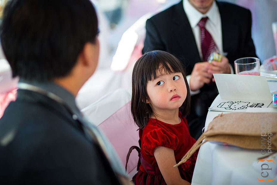 cute little girl at a wedding