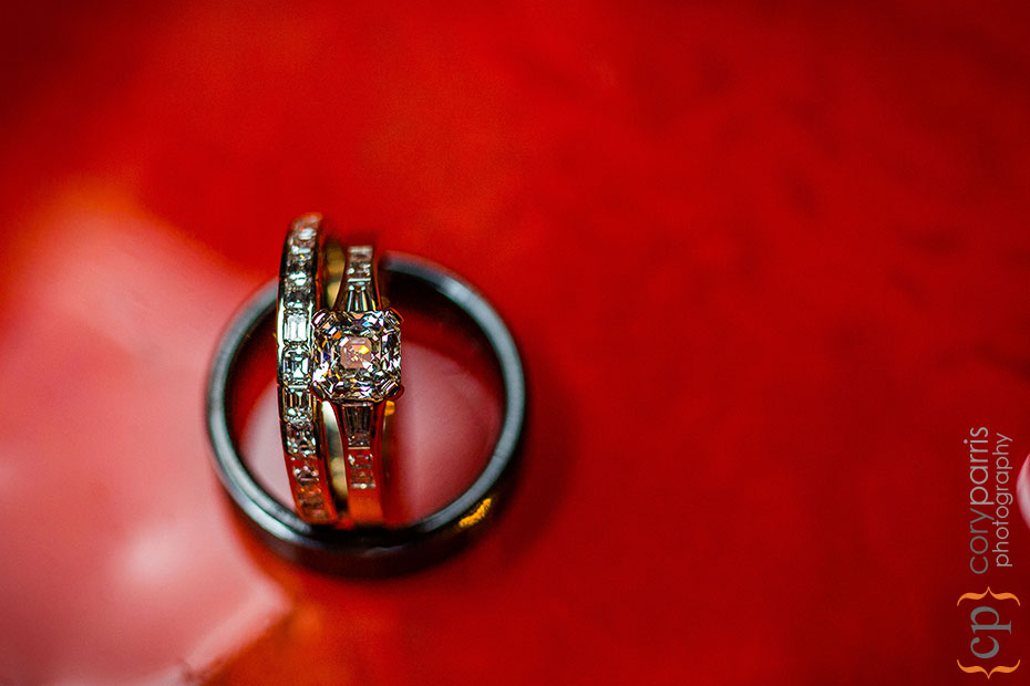 Ring photo on red