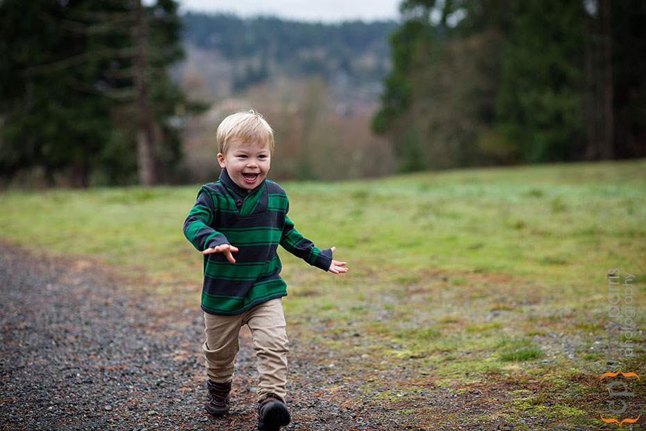 Little man running