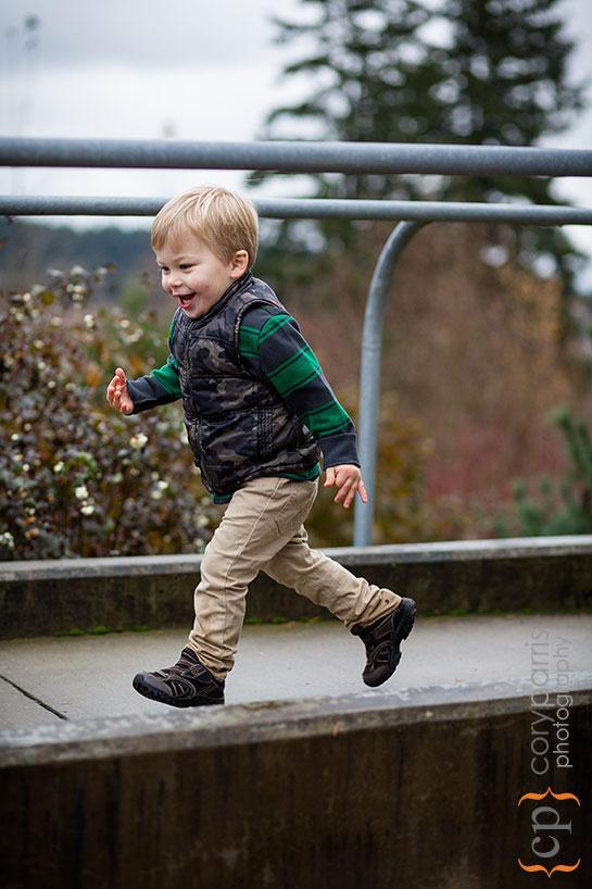 Little boy running