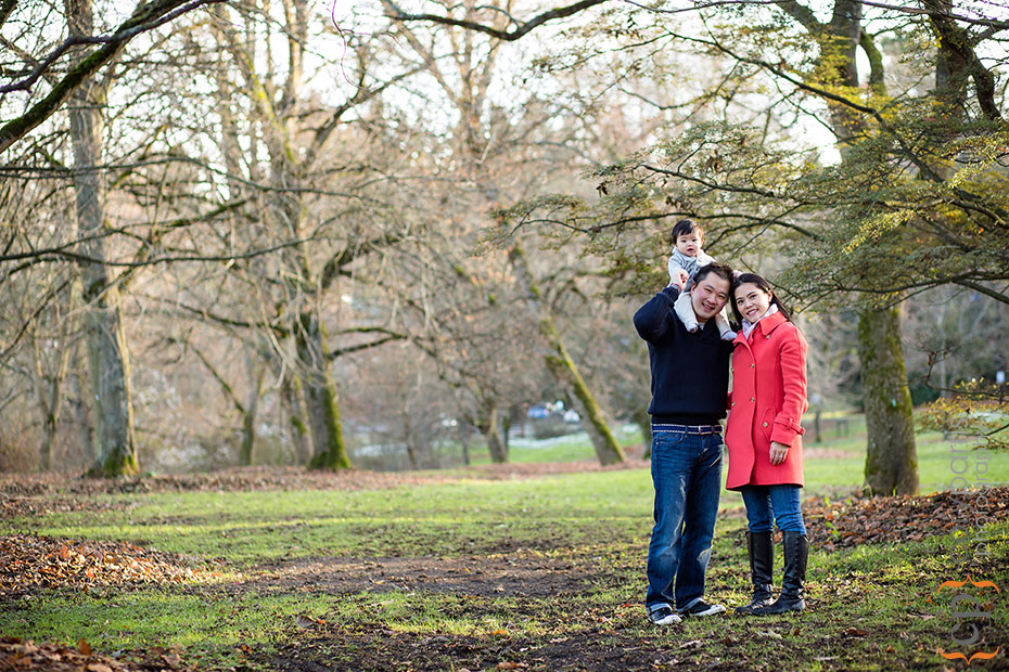 family portrait at washington park arboretum