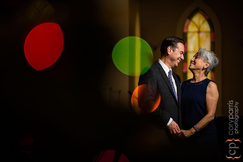 30th wedding anniversary Christmas portrait