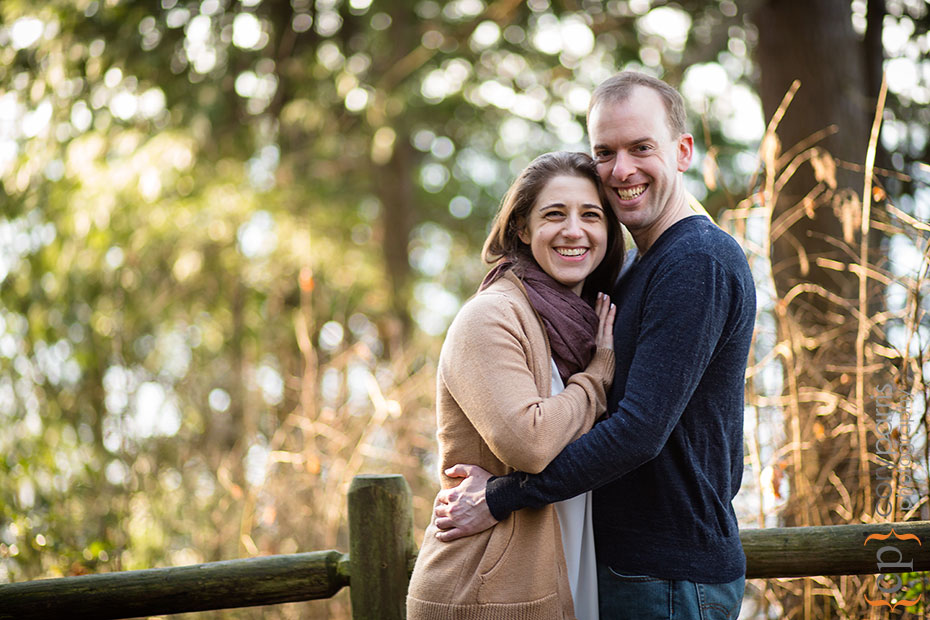 Carkeek Park engagement portrait